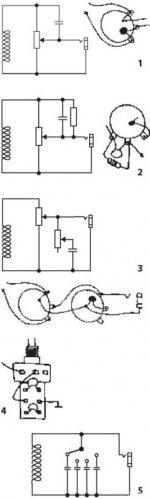 Схемы распайки тембров Рис (1), (2), (3), (4), (5)