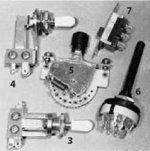 Специальные переключатели датчиков (3,4,5,6,7)